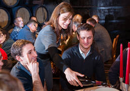 Tasting during the Wine Auction at the Hospices de Beaune