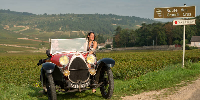 Bugatti along the Route des Grands Crus © Michel Joly