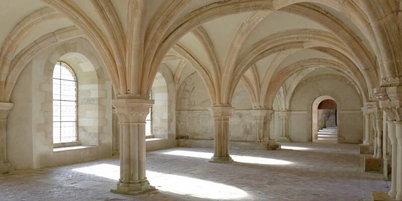 Fontenay Abbey_Chapter house ©Fréderic Dupin