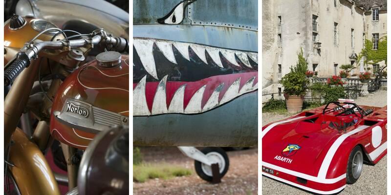 aircrafts, racing cars & motorcycles. Château de Savigny-les-Beaune.
