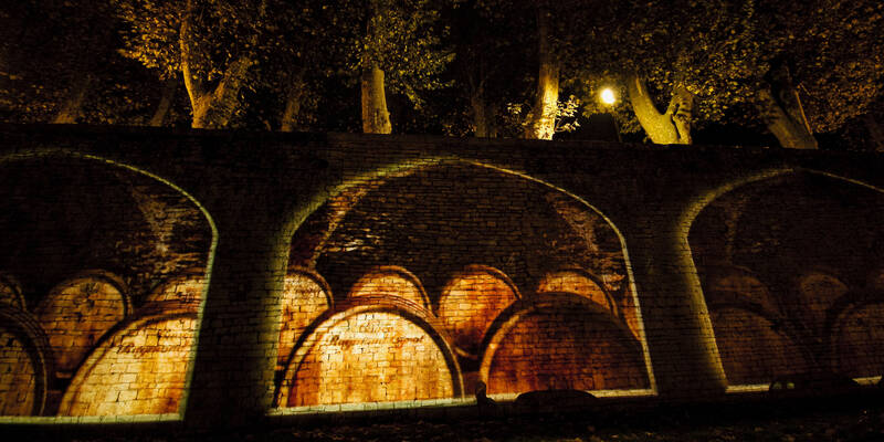 Beaune's trail of light - The Remparts © Mairie de Beaune
