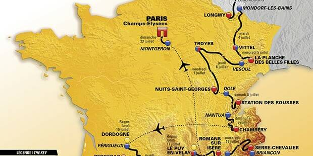 Tour de France 2017 - Route © ASO