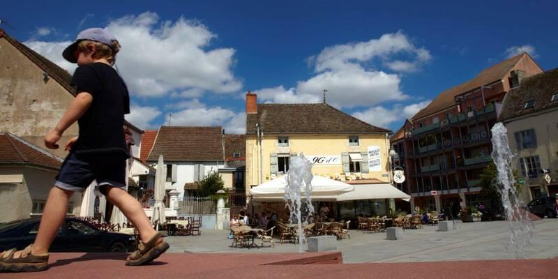 Chagny's main square