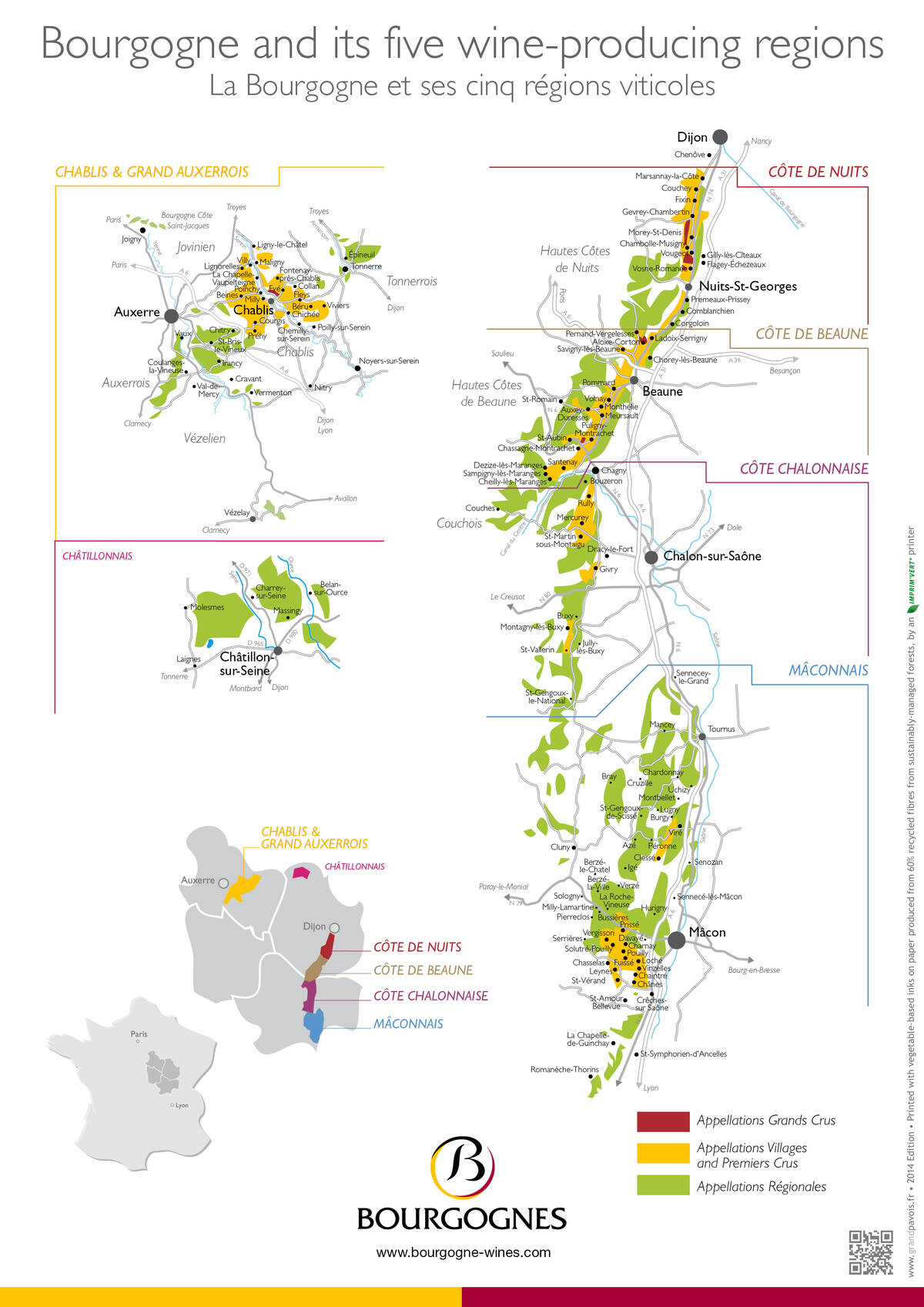 Burgundy Wine Map Burgundy Wine Map | The Official Beaune Travel Guide