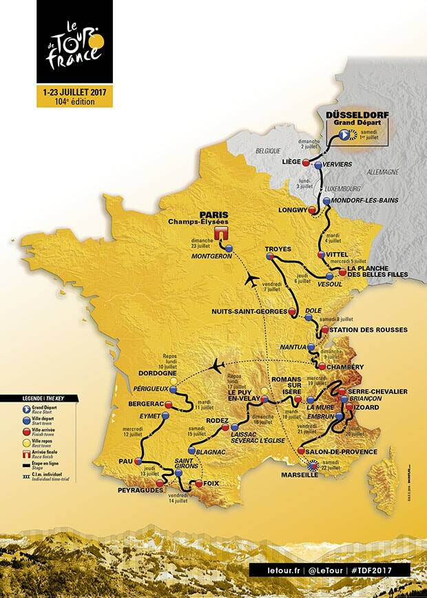 Tour de France 2017 in BurgundyFrancheComt The Official Beaune