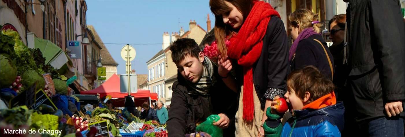 Chagny Market, Burgundy, Sunday