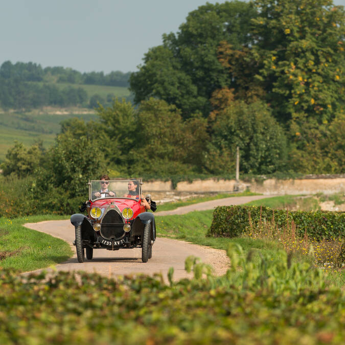 Bugatti on the Route des Grands Crus