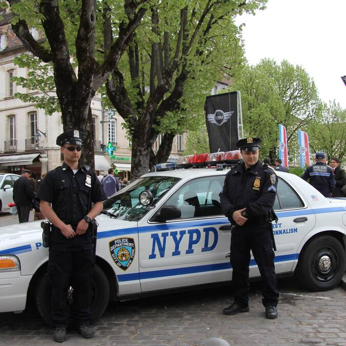 NYPD in Beaune Place Carnot